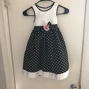 Other - Black dress with white polka dots